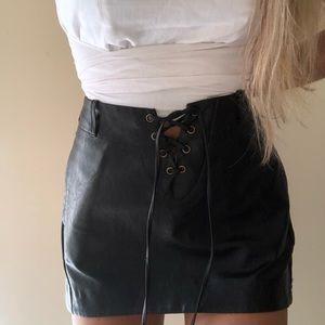 ONE TEASPOON leather mini skirt